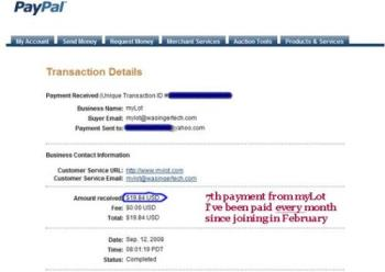 myLot Earnings for August -  I'm pleased with what I earned on myLot for August 2008.