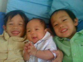 My three boys! - Wouldn't it be nice if they would have a sister?