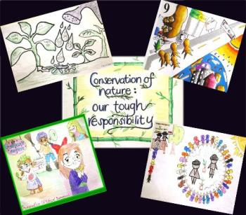 simple works of art - These are the drawings of some of my students when we joined the celebration of the International Youth Day Celebration on August 12, 2008.