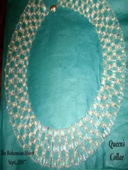 Hand woven beaded collar - This is the most time consuming piece I have ever done, but, it turned out to be stunning. The picture does not do the piece justice.