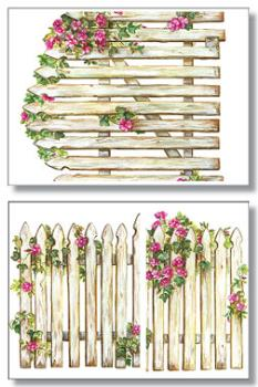 Picket fence and flowers - would look great in my bathroom