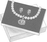 a jewlery set in a box - a jewelry set in a box