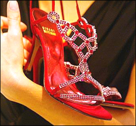 """Ruby Slippers - these are the """"ruby slippers""""  cost 1.8 million dollars."""
