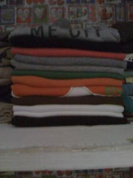 Folded clothes - see how neat this clothes are