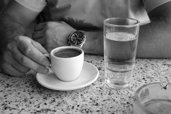 coffee and water - coffee & water