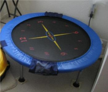 Rebounder - It is my mini-trampoline, good for exercising indoors when the wheather is too hot to go out.
