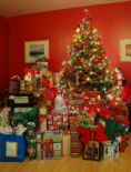 gifts - gifts under a Christmas tree
