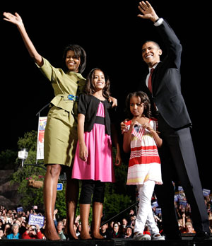 Obama's Family Campaigning... - Obama's Family Campaigning...