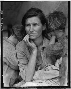Migrant mother - Dust bowl sufferers in the mid west.