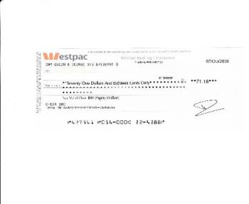 globaltestmarket payment - cheque received from GlobalTestMarket on the 21.10.08