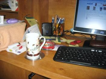 Messy - My messy desk. (as usual)