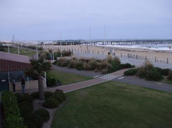 a view from our hotel room - It was great having a balcony overlooking the beach