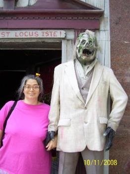 Me and my new man, love at first sight, cute coupl - Me and my new man, love at first sight, I hope Mr. Bones doesn't get jealous.