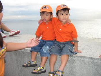 Twins - A photo of my twin grandchildren. They are growing smarter and handsomer day by day!