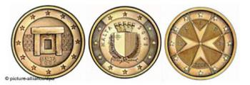 maltese euro coins - maltese community choose local sites on the euro coins
