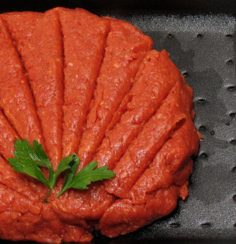 Tartare beefsteak - Raw meat with spices and eggs