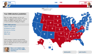 CNN Prediction Map - Using the CNN Wall Map this is my prediction of the outcome. I of course could be wrong.
