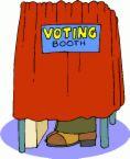 vote - cartoon voting booth
