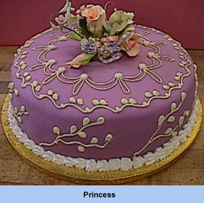 Pink/mauve cake - cake with pink mauve icing