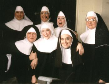 Nuns - Group of nuns showing their cheerful smiles.