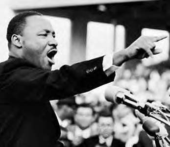 Martin Luther King - a clergyman who fought for the rights of the black people