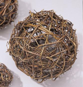 Vine Ball - stringing Christmas lights through this makes a great centerpiece.