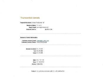 screen shot - proof of payment