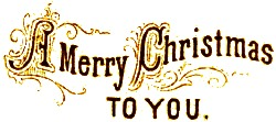 a merry christmas to you written in gold letters -  a merry christmas to you written in gold letters
