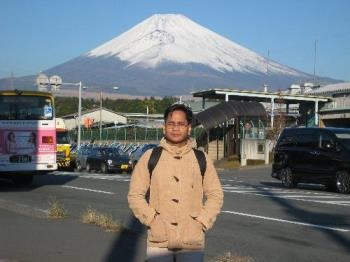 FUJI at my background - Mount FUJI is starting to have snow