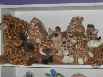 """my """"natural"""" colored giraffes - I also have other colored ones...."""