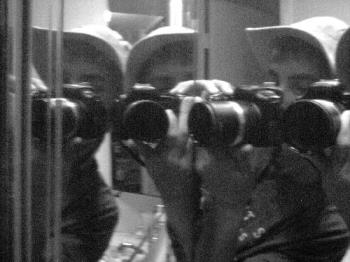 me and my camera (trick) - camera in the mirror