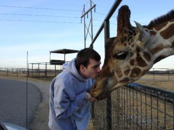 Jason and giraffe - Arbuckle Wilderness, Davis OK