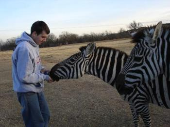 Jason and zebra - Arbuckle Wilderness, Davis OK