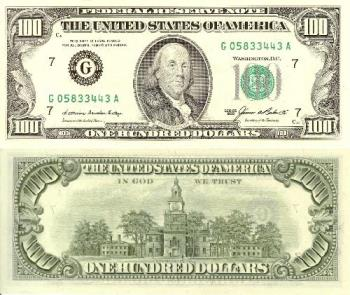 $100 - Doller 100