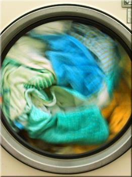 laundry - doing the laundry on a Sunday afternoon