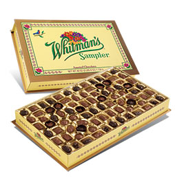 Whitman's Sampler Road Map included - Box of Whitman's candy