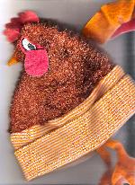 Chicken Hat - Image captured by scanner.