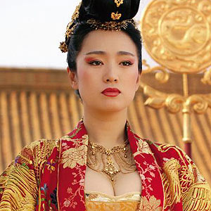 Gong Li - Her role as the empress in the Golden Flower.