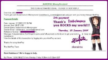 Isabelmarco 2th payment - My Isabelmarco 2th payment, after yesterday covert to premium -diansinta