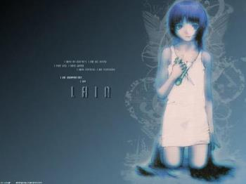 Lain in blue. - This is lain in blue. 