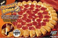 yah man! pizza pizza! - cheesy bites from pizza hut