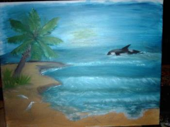 beach - The second painting I done.