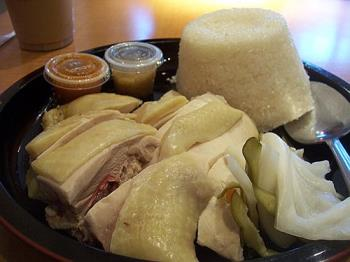 my favorite hainanese chicken rice  - hainanese chicken rice