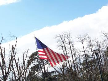 Flag in our town - A flag that hangs in our town