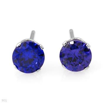Sapphire Earrings I Won For Mom.  - Aren't they wonderful?