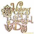 Have a beautiful day - I wish you to have a very beautiful day, friend.