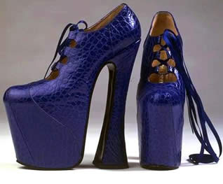 high heels - You will get veritigo wearing these heels.