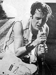 Joe Strummer live at a Clash gig - Joe in usual passionate mode.