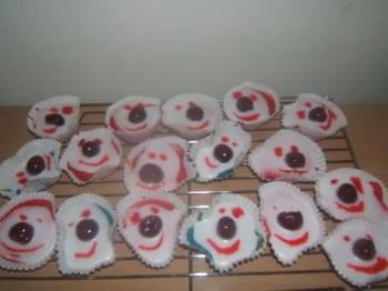 red nose cup cakes ''............................. - red nose cupcakes............................