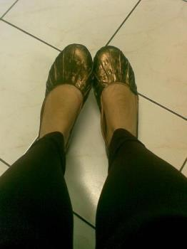 Flats - took a picture of my shoes while not doing anything